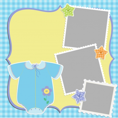 birthday border: Cute template for baby s card