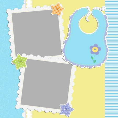 Cute template for baby s card Stock Vector - 15934643