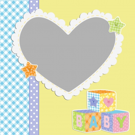 baby border: Cute template for baby s card