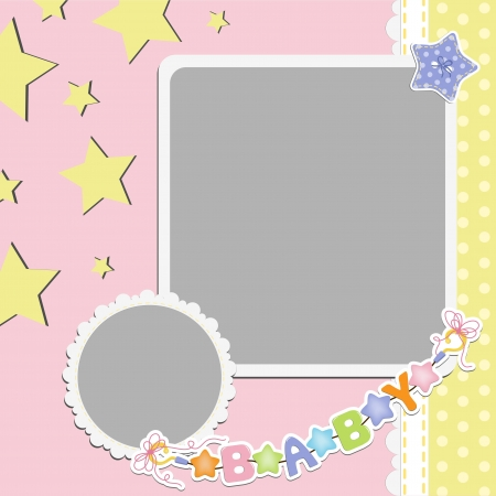 Cute template for baby s card Stock Vector - 16038523