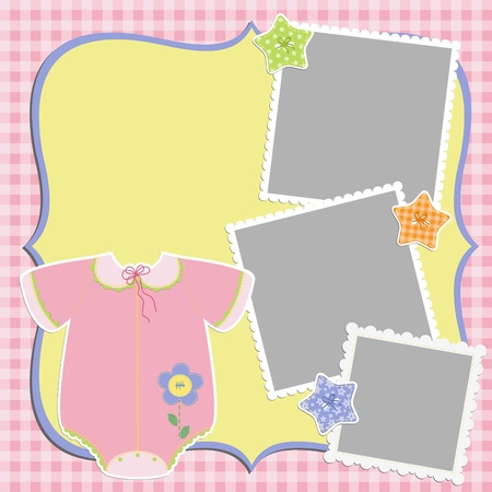 arrive: Cute template for baby s card