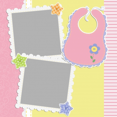 Cute template for baby s card Vector
