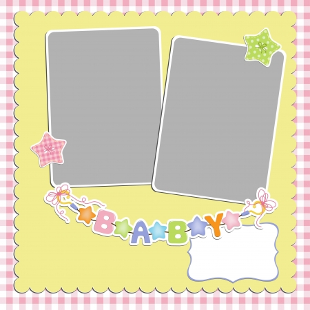Cute template for baby s card Stock Vector - 16038525
