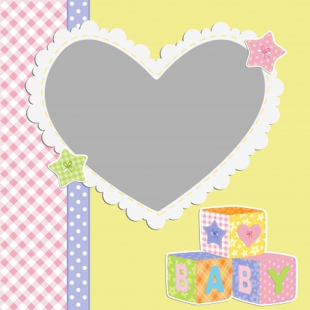 Cute template for baby s card Stock Vector - 16038533