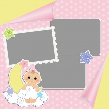 teteros: Plantilla para tarjeta linda beb� s