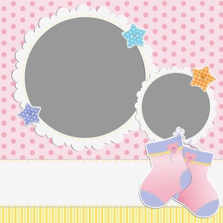 Modèle mignon pour la carte du bébé