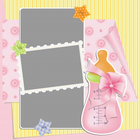 Cute template for baby s card Stock Vector - 16038529
