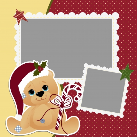 Cute christmas frame template Vector