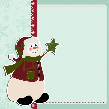 Cute christmas postcard template Stock Vector - 16211451