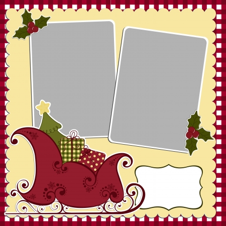 xmas baby: Cute christmas frame template