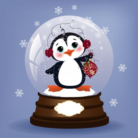 Cute christmas postcard template Stock Vector - 16211445