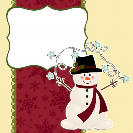 Cute christmas postcard template Vector