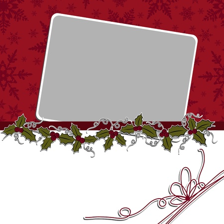 template frame: Cute christmas postcard template