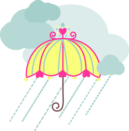 brolly: Let a smile be your Umbrella and you will end up with a face full of Rain. Enjoy the Rainy day with style with this design by Embroidery patterns.