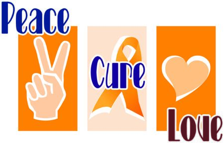 Display your support for a cure for a terrible disease. Иллюстрация