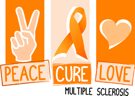 Display your support for a cure for a terrible disease. Illustration