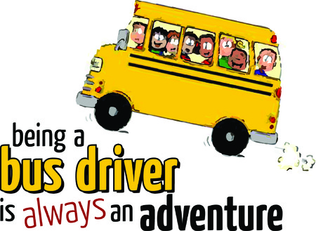 driver cap: A bus driver will enjoy this design on a tshirt or cap. Illustration