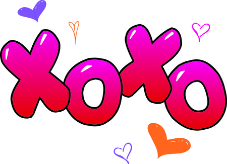 xoxo: This design will make a wonderful Valentine decoration.