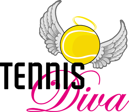 Sports fans will enjoy this tennis design. Иллюстрация