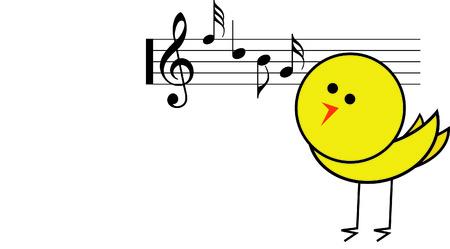 Machen Sie schöne Musik mit einem Singvogel. Standard-Bild - 41424200