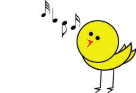 Make beautiful music with a song bird.
