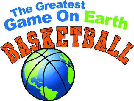Sports fans will enjoy this basketball design. 向量圖像