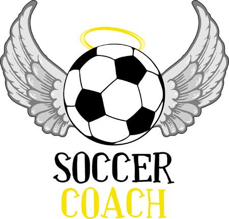 soccer coach: Sports fans will enjoy this soccer design.