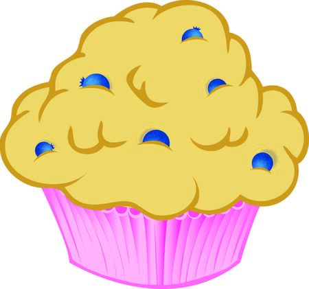 blueberry muffin: A blueberry muffin is a delicious treat. Illustration