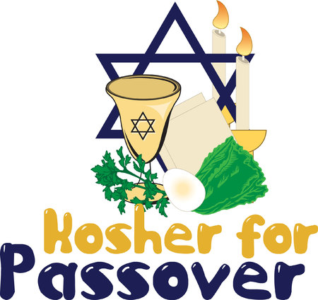 Decorate a Passover project with this beautiful design.