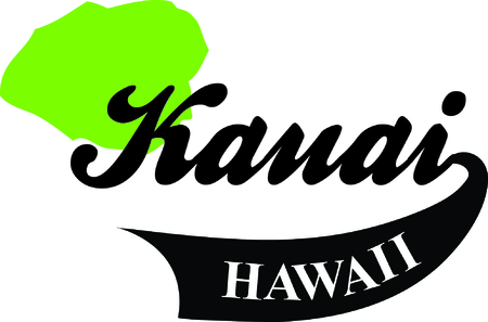 Show off your love of Hawaii with an island on a tshirt. Illustration