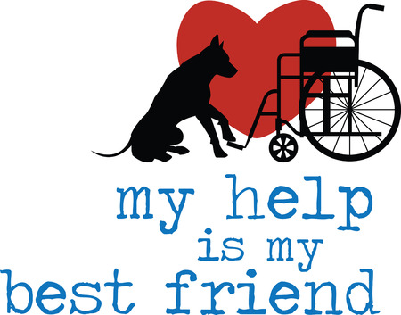 dog wheelchair: Customize gifts for service dogs with this design on canine fashion apparel and bedding.