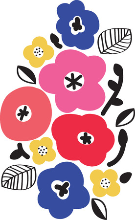 Flowers add unique style and cheer to any space.  Get the spirit of spring on your projects with this design.