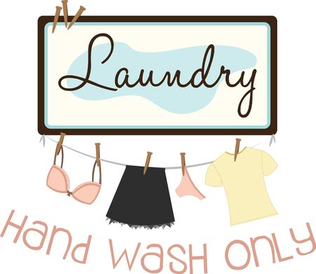 personalize: Spark your imagination  Personalize your linen and make it easier to spot  A great design on wall hangings for a laundromat or home projects Illustration