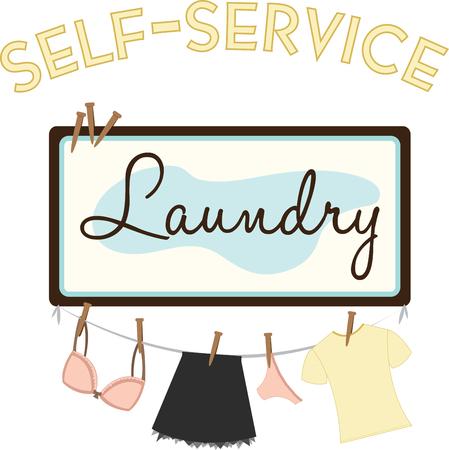 Vonk uw verbeelding Personaliseer uw linnen en het gemakkelijker maken om een groot ontwerp op wandkleden plek voor een wasserette of home projecten Stock Illustratie