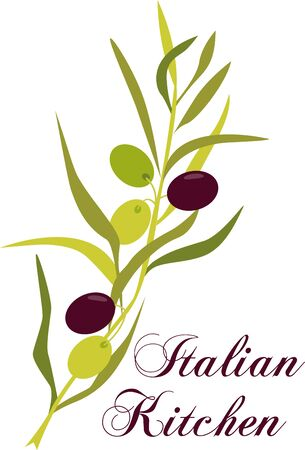 italian kitchen: This olive branch design will add an elegant yet Tuscany touch to your projects on cozies kitchen towels and more.