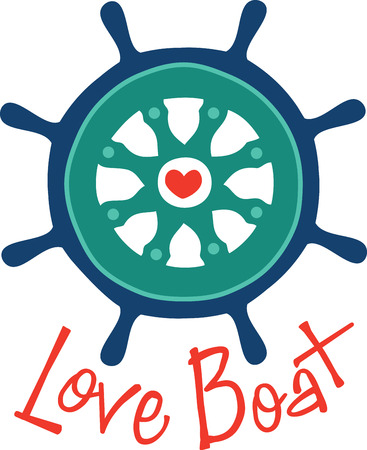 boater: A perfect design for your sailor boater or lover of all things nautical embroider on clothes towels  gear bags  tshirts jackets or wall hangings.