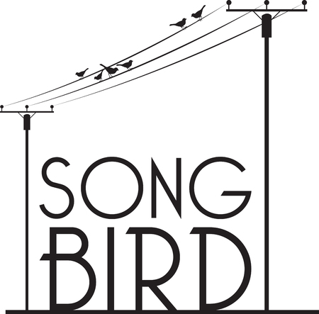 Birds sitting and singing on Wire Listen to the music and keep your mind and soul calm always. 向量圖像