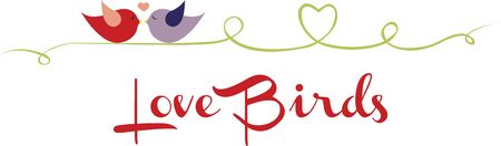 saint valentine s day: Love Bird Collection Borders Wow  these are awesome so so cute and versatile for decorating the things for any occasion  love them Illustration
