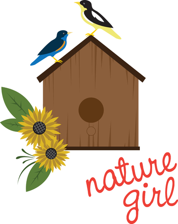 Share pictures of birdhouses from the simple to the extraordinary with this design by embroidery patterns Çizim
