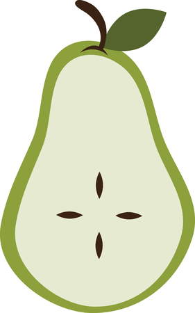 beloved: Pear is a sweet fruit that is said to be related to the apple and the worlds oldest cultivated and beloved fruits with this design by embroidery patterns