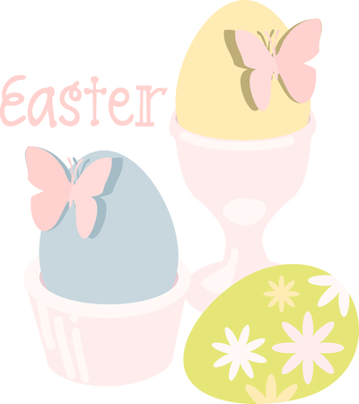 mariposa: may all the enjoyments of the glorious season be yours pick those colorful Easter Eggs With Butterflies designs by embroidery patterns