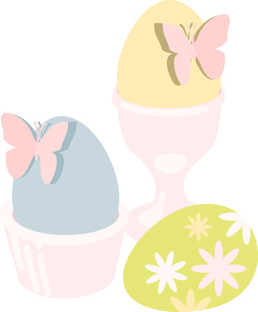 colored egg: may all the enjoyments of the glorious season be yours pick those colorful Easter Eggs With Butterflies designs by embroidery patterns