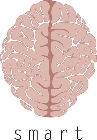 Gehirn ist der Chef des Körpers und läuft die ganze Show mit diesem Entwurf durch Stickmuster Standard-Bild - 44112293