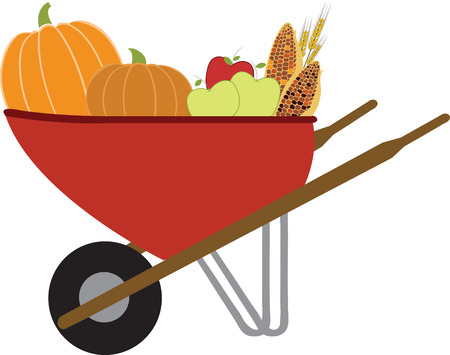 Happily winter squash is among the easiest harvests to manage. ... The wheelbarrow is back in service and the squash is managed with this design by embroidery patterns Illustration