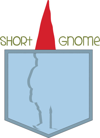 Once you go gnome you never go home. Pick those design by embroidery patterns. Иллюстрация