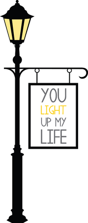 lamppost: Enjoy unforgettable entertainment from Under the Streetlamp. With this design by embroidery patterns Illustration