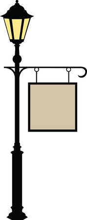 Enjoy unforgettable entertainment from Under the Streetlamp. With this design by embroidery patterns Stock Illustratie