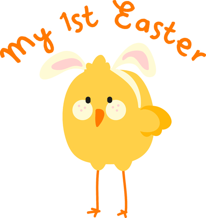 glorious: may all the enjoyments of the glorious season be yours pick those colorful Easter chick Bunny  designs by embroidery patterns Illustration