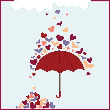 Rainy Hearts hace que cada cosa hermosa Foto de archivo - 41520304