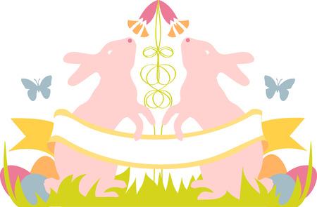 cottontail: pueden todos los goces de la temporada gloriosa ser tuyo recoger esos coloridos dise�os de primavera de Pascua por patrones de bordado
